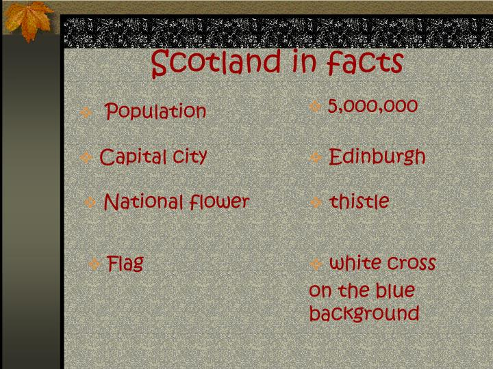 Scotland in facts