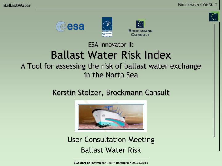 user consultation meeting ballast water risk n.