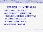 causas universales
