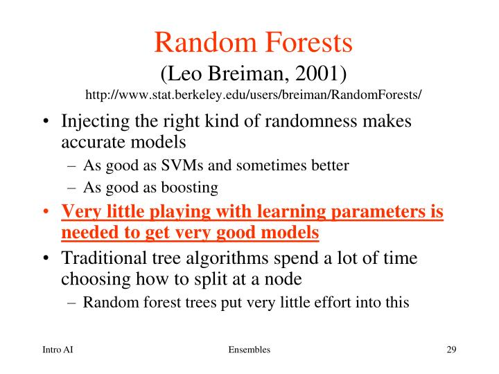breiman and cutler s random forests for