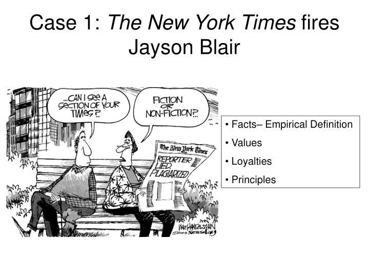 Case 1 the new york times fires jayson blair