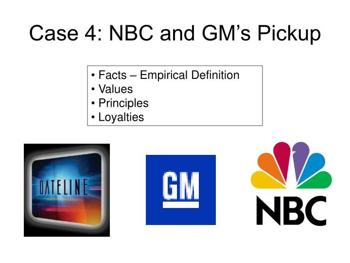 Case 4: NBC and GM's Pickup