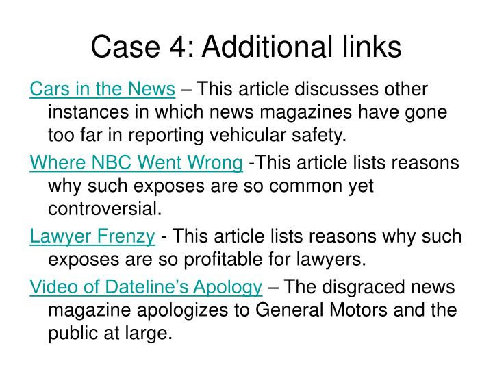 Case 4: Additional links
