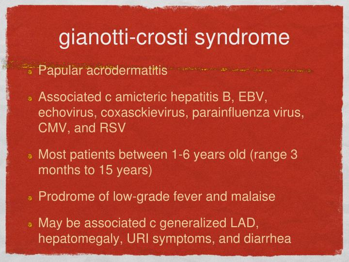 gianotti-crosti syndrome