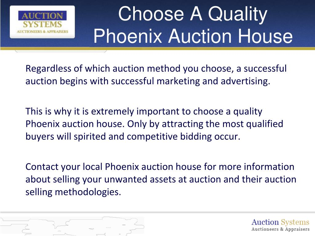 Choose A Quality Phoenix Auction House