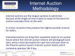 internet auction methodology