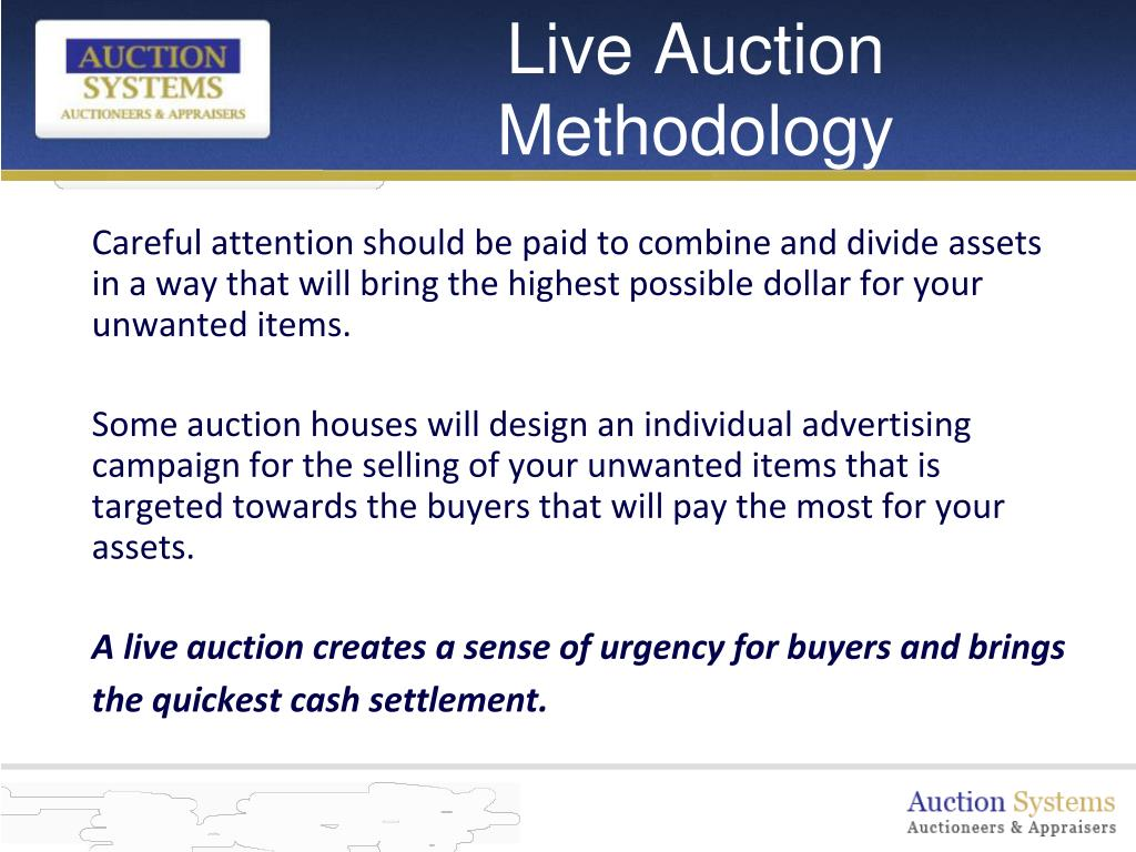 Live Auction Methodology