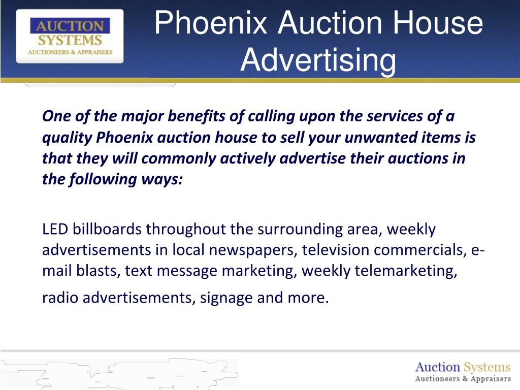 Phoenix Auction House Advertising