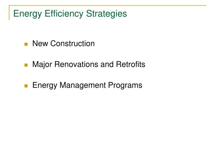 Energy Efficiency Strategies