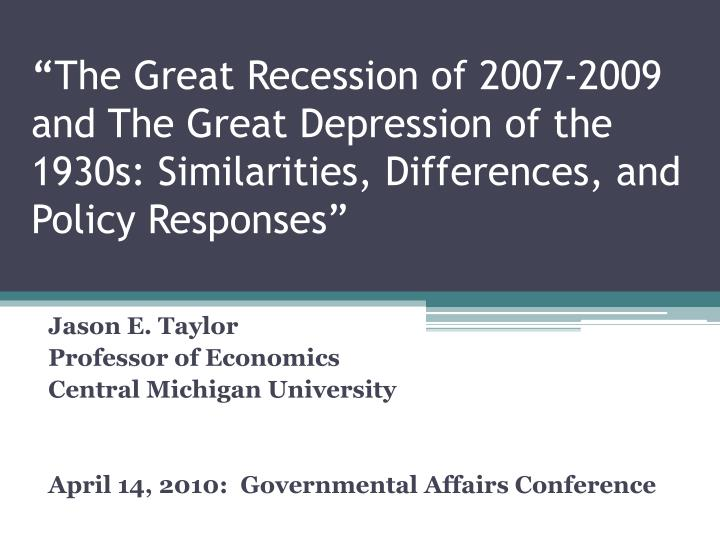 1 what are the similarities and differences between the great depression and the great recession This is what happened during great depression of 1929–1932 it is recession only but much more severe and long lasting rule of thumb for ascertaining depression is a 10% or more decline in gdp.