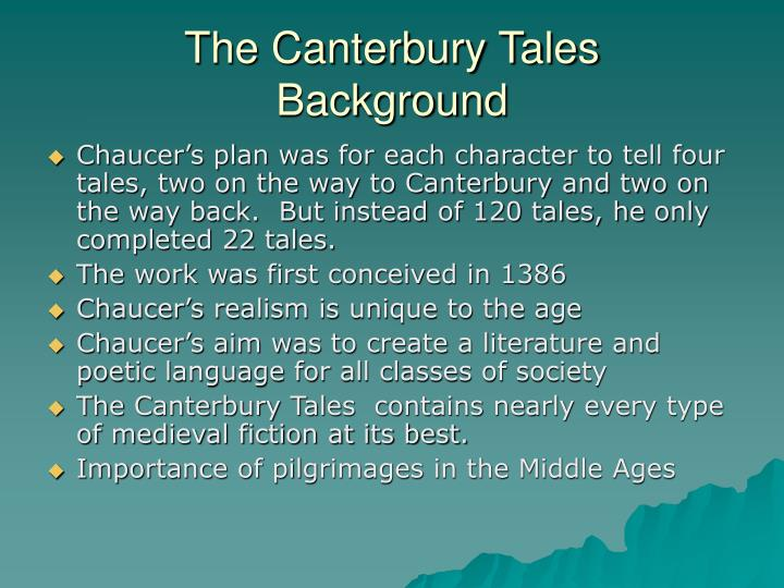 The canterbury tales background