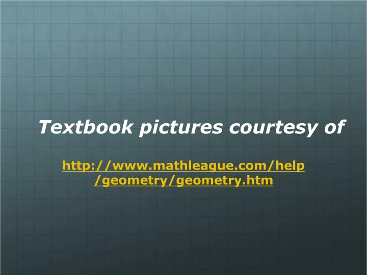 Textbook pictures courtesy of