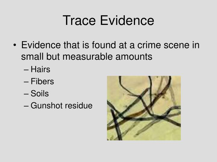 trace evidence used to solve cases Mute witnesses: trace evidence analysis [max m houck]  real case studies show how trace evidence was used to help solve difficult cases.