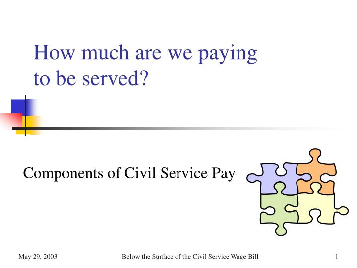 how much are we paying to be served n.