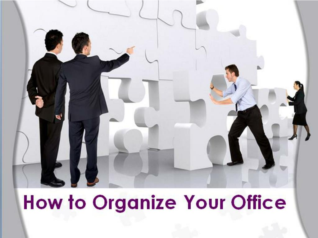 how to organize your office l.