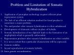 problem and limitation of somatic hybridization