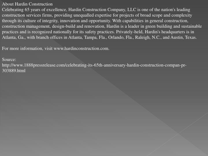 About Hardin Construction