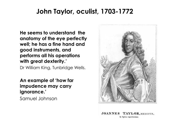 John Taylor, oculist, 1703-1772