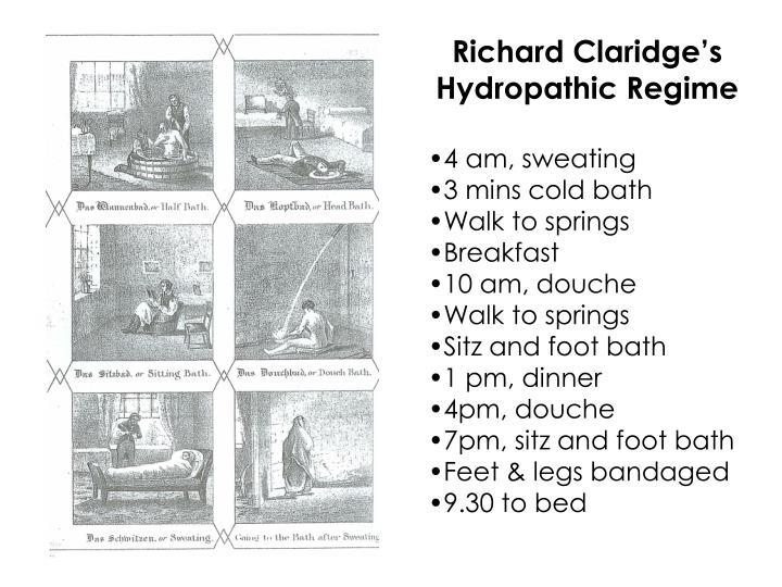 Richard Claridge's Hydropathic Regime