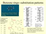 benzene rings substitution patterns