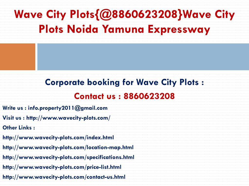 Wave City Plots{@8860623208}Wave City Plots Noida Yamuna Expressway