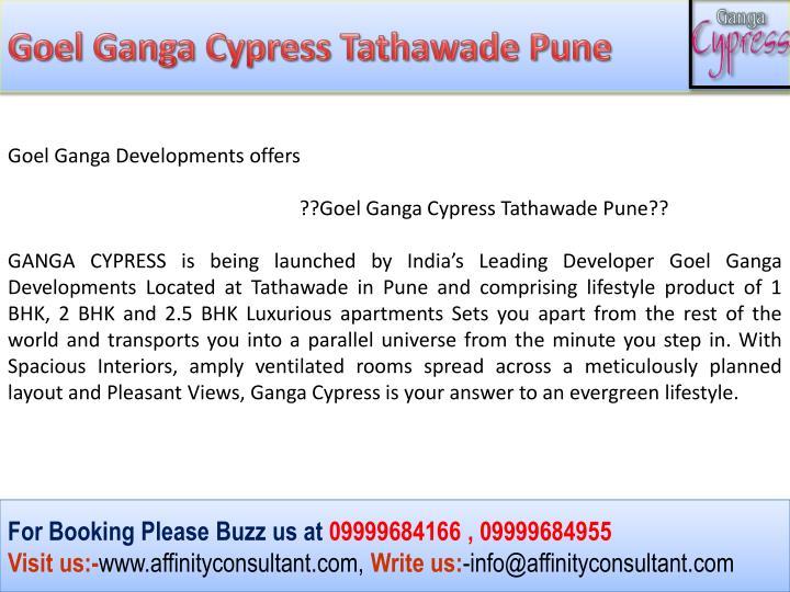 Goel Ganga Cypress Tathawade Pune