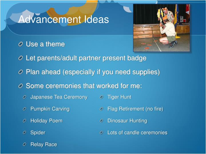 Advancement Ideas