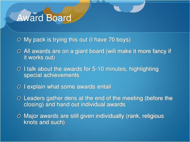 Award Board
