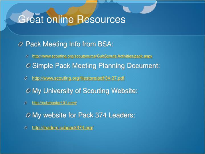 Great online Resources