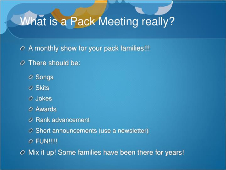 What is a Pack Meeting really?