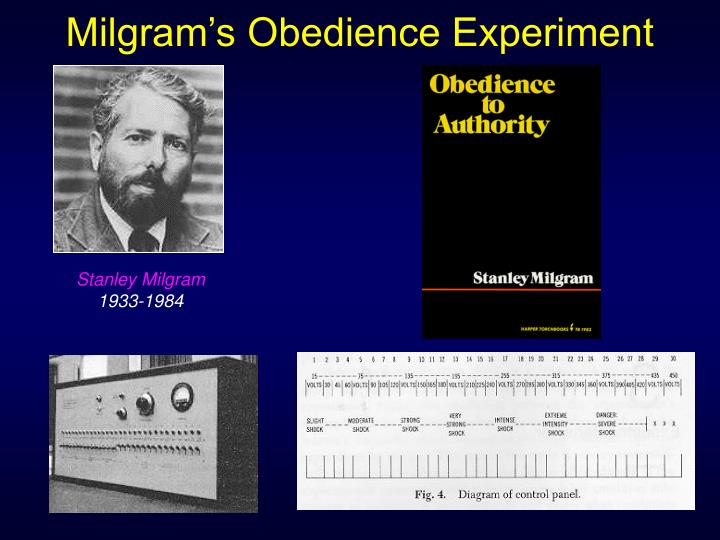 an overview of stanley milgrams experiment on obedience Stanley milgram home about biography while it was truly to measure obedience said that his experience of the experiment was very difficult to describe.