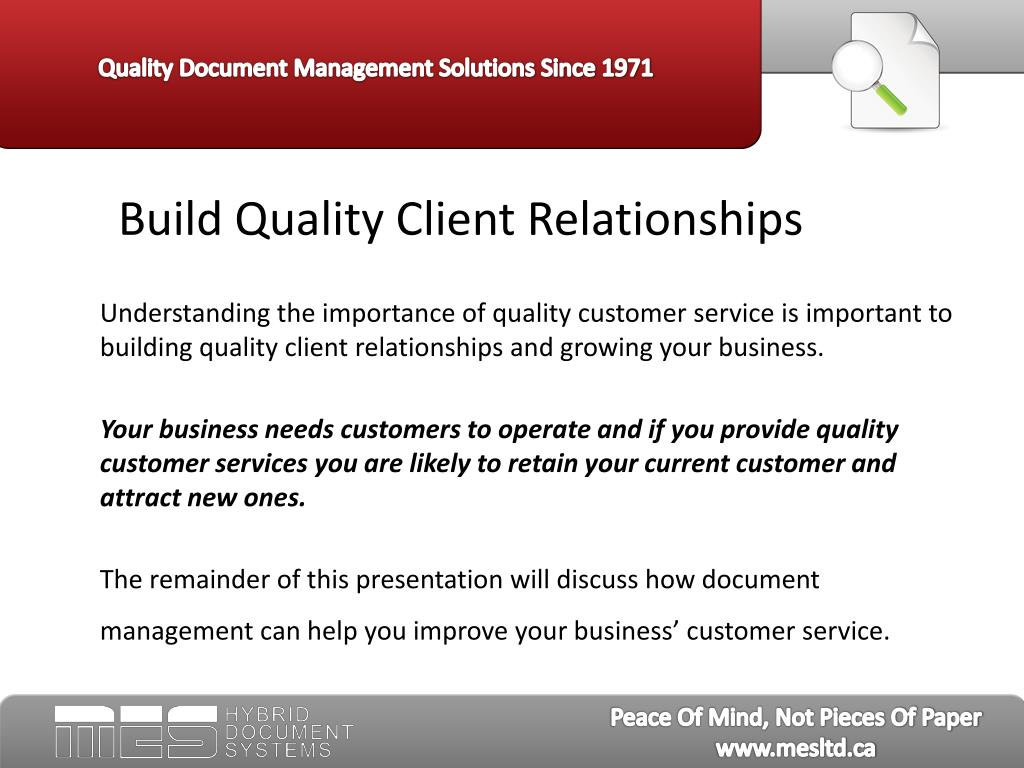 Build Quality Client Relationships