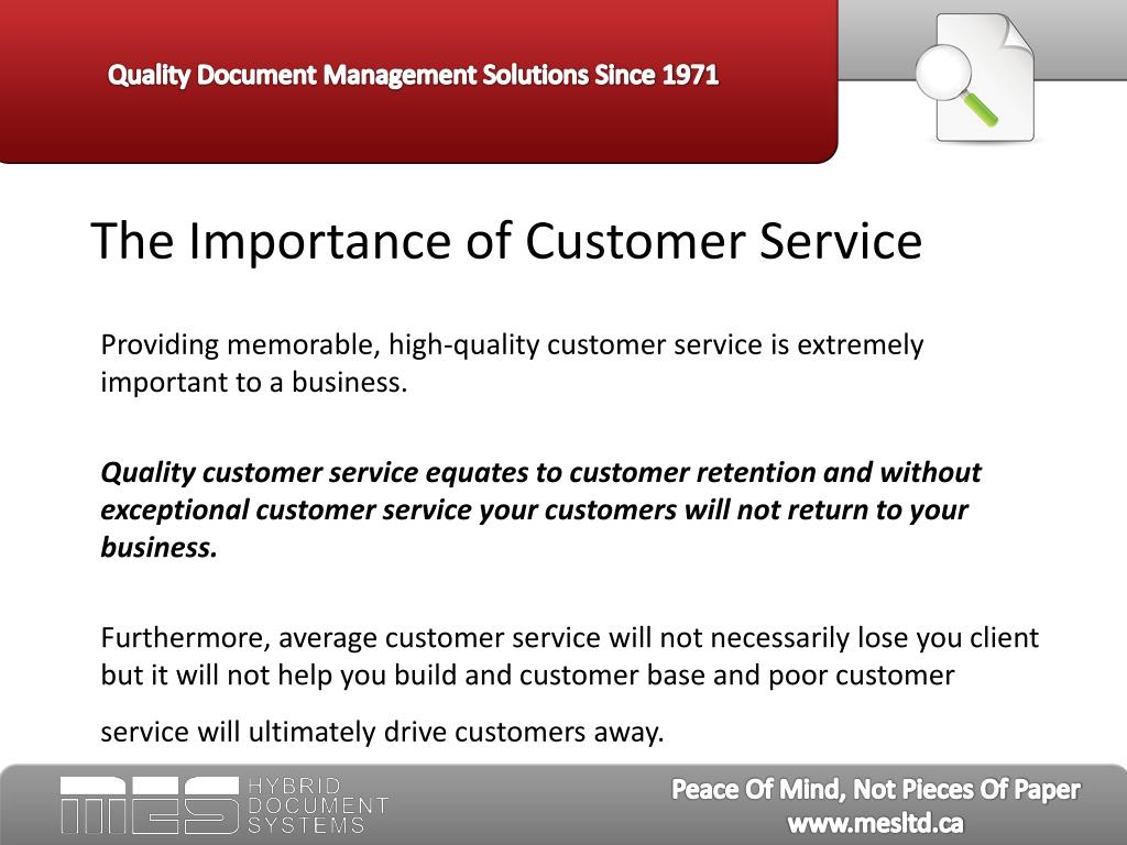 The Importance of Customer Service