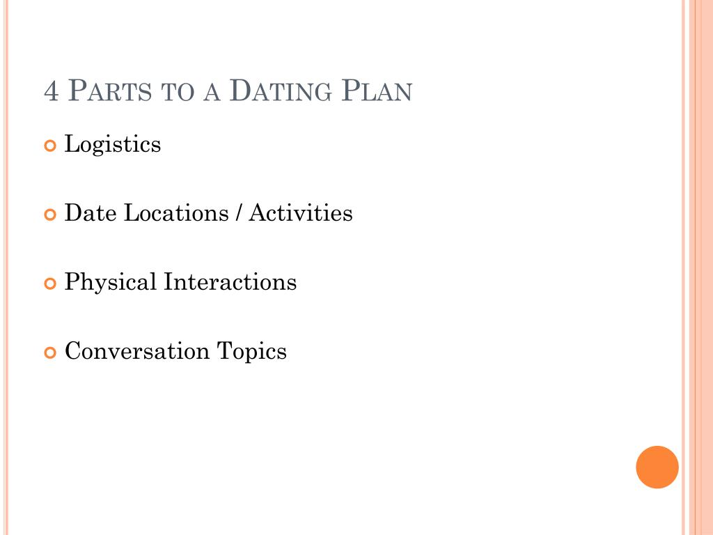 4 Parts to a Dating Plan