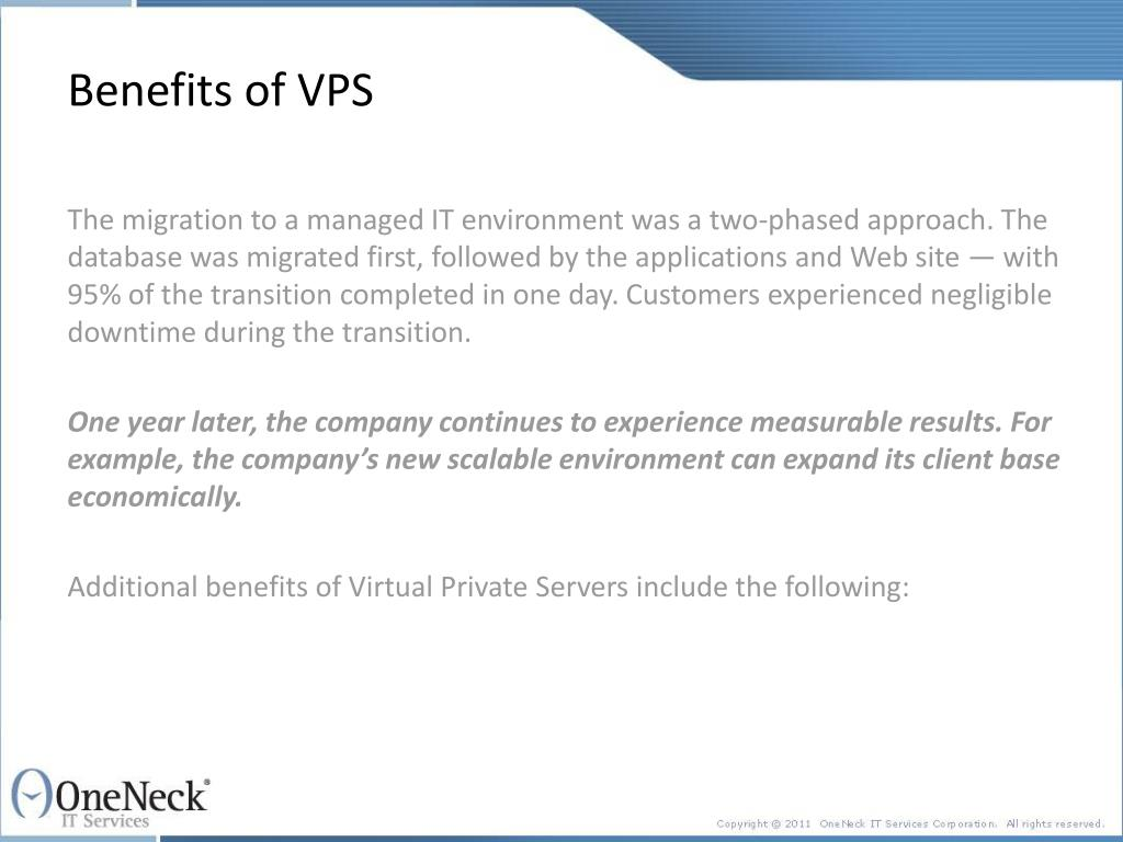 Benefits of VPS