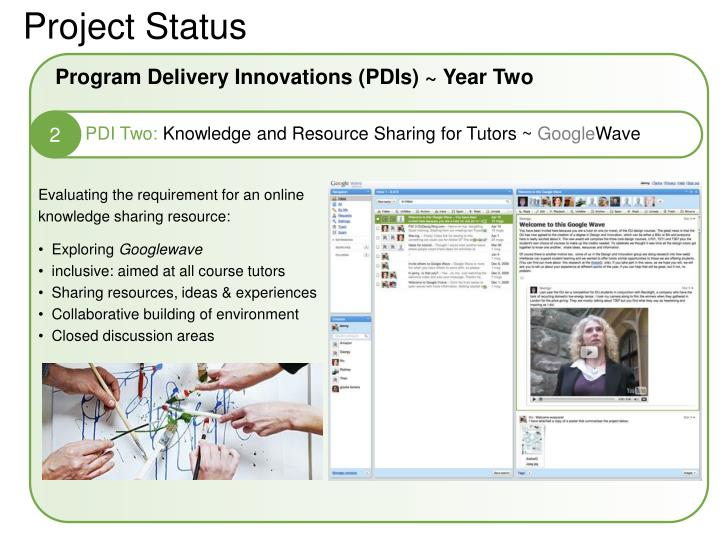 Program Delivery Innovations (PDIs) ~ Year Two