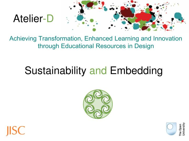 Sustainability and embedding