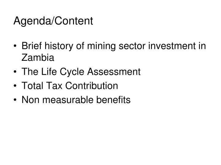 Agenda content