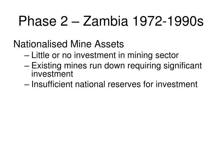 Phase 2 – Zambia 1972-1990s