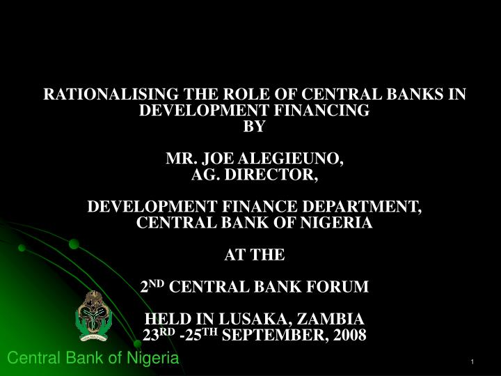 discuss the role central banks have The specification of central banking functions and the institutional arrangements within which these functions are performed are open for discussion further, while we will emphasize the importance of the role of central banks, it will be recognized that they cannot exercise direct control, either of.