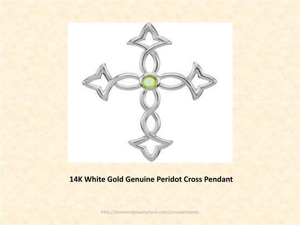 14K White Gold Genuine