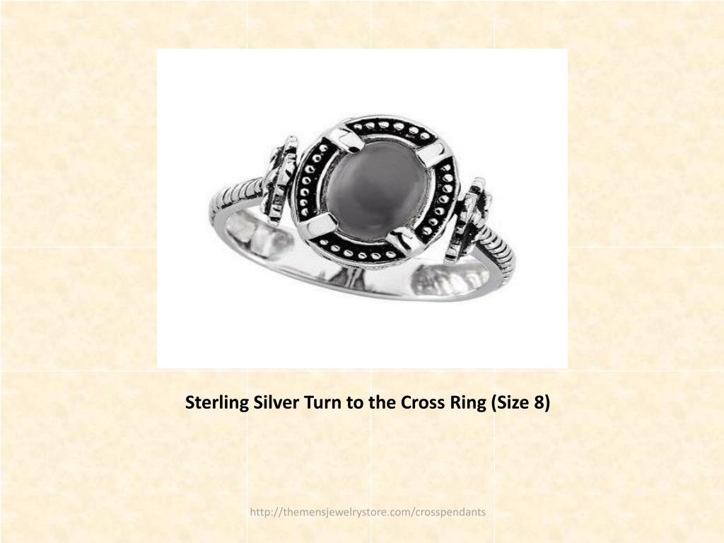 Sterling Silver Turn to the Cross Ring (Size 8)