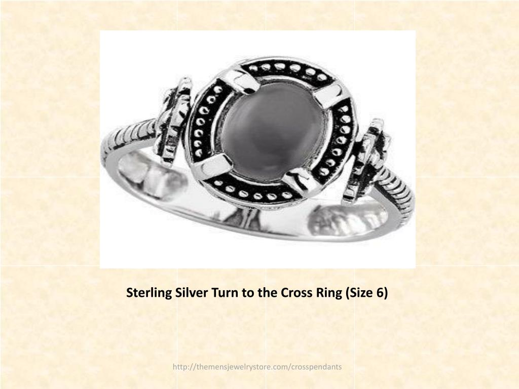 Sterling Silver Turn to the Cross Ring (Size 6)