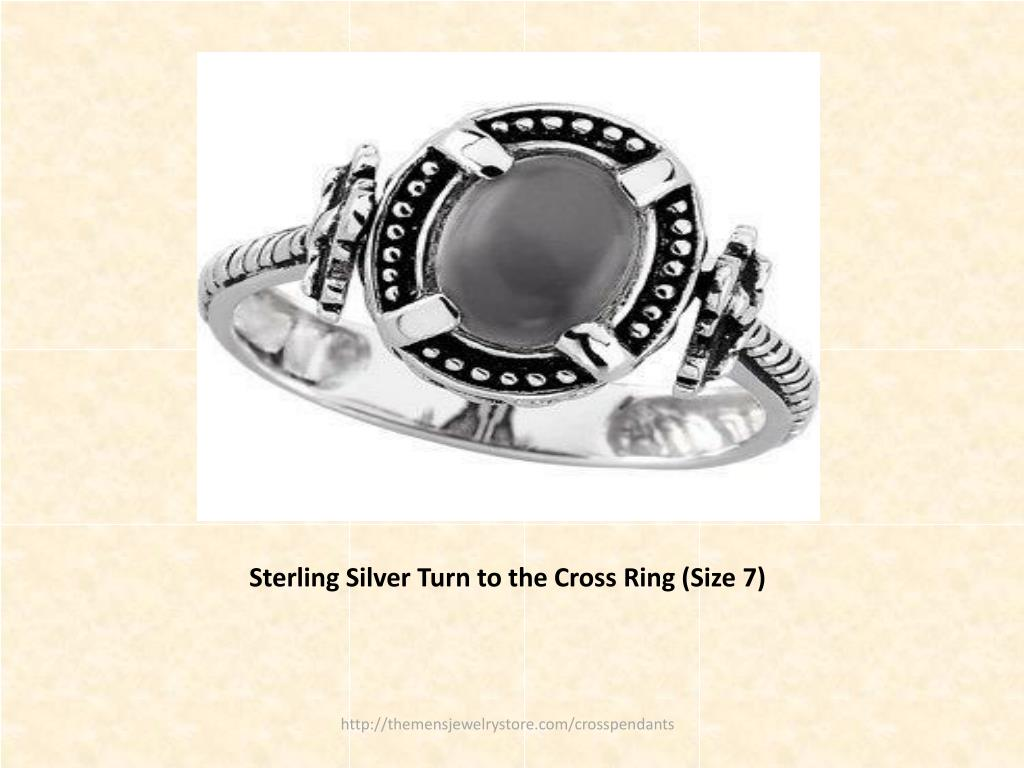 Sterling Silver Turn to the Cross Ring (Size 7)