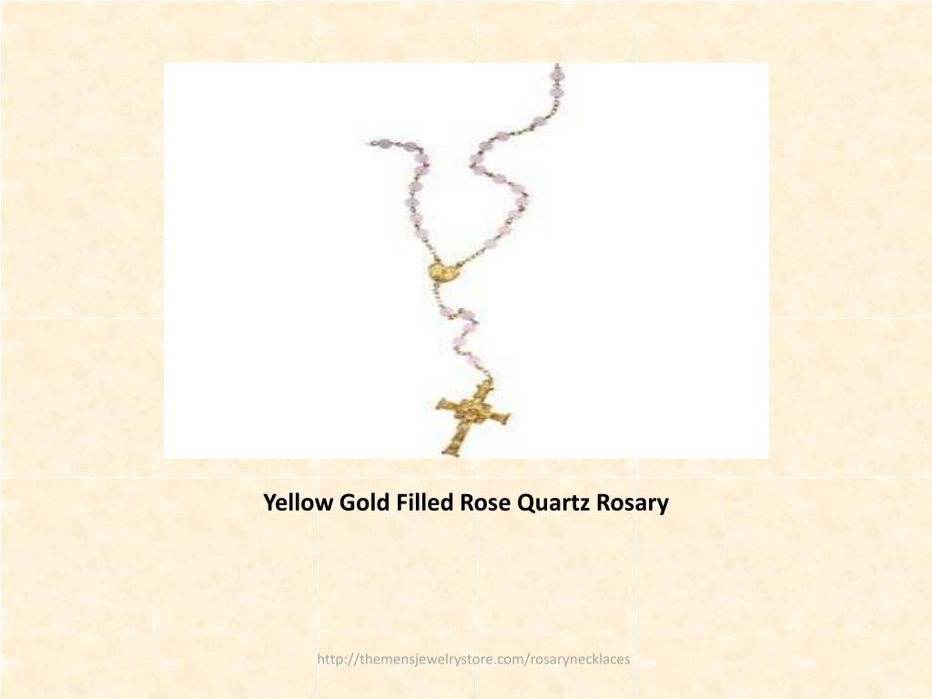 Yellow Gold Filled Rose Quartz Rosary