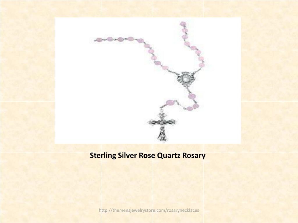 Sterling Silver Rose Quartz Rosary