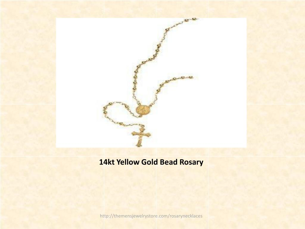 14kt Yellow Gold Bead Rosary
