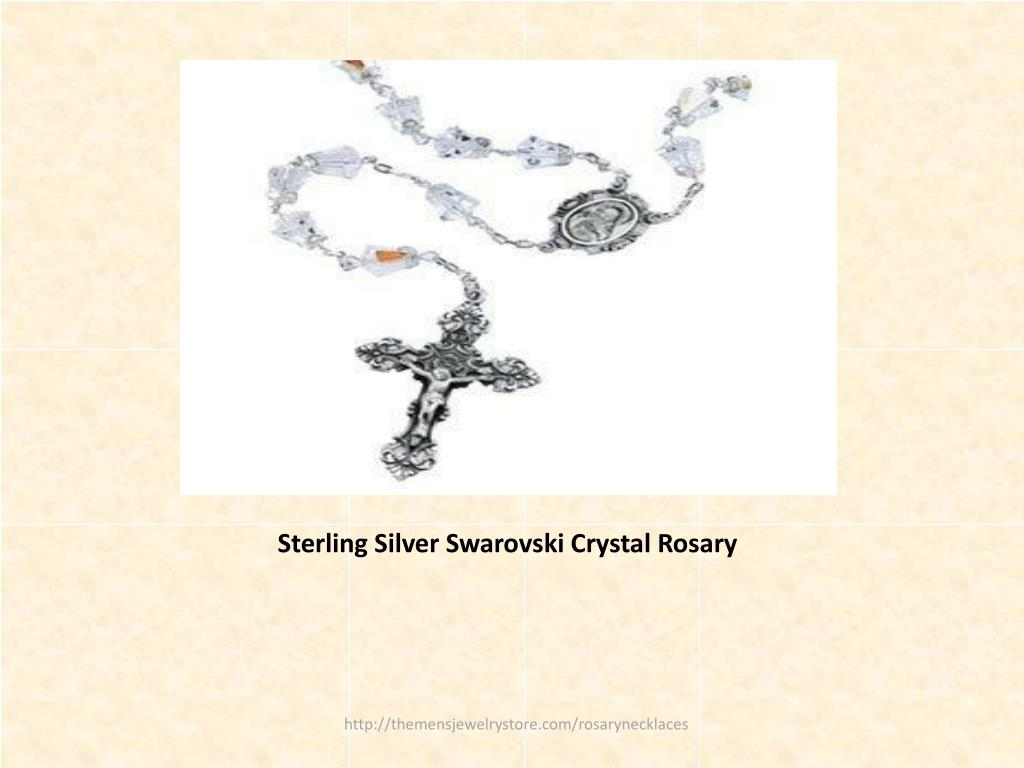Sterling Silver Swarovski Crystal Rosary