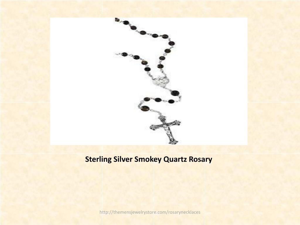 Sterling Silver Smokey Quartz Rosary