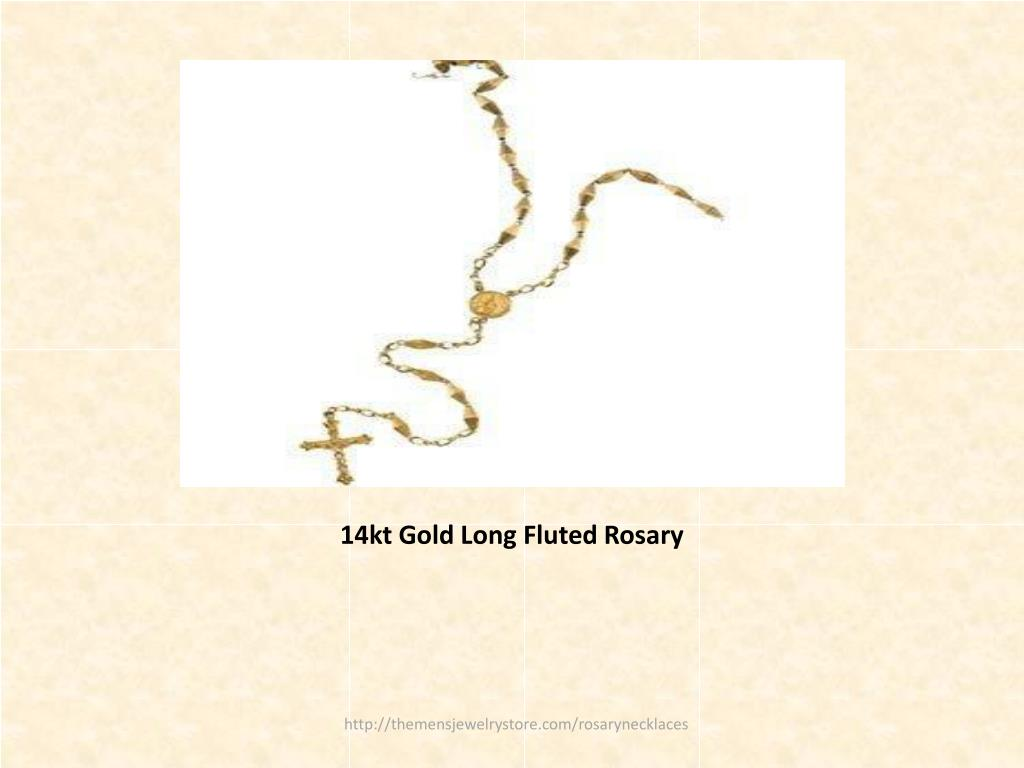 14kt Gold Long Fluted Rosary
